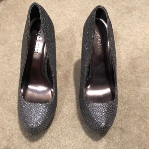 Forever 21 Gray sequence heels.